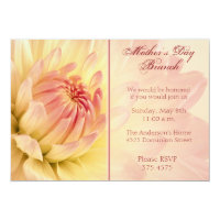 Mother's Day Brunch Dahlia Invitation