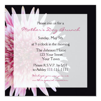 Mothers Day Brunch Invitation Gerbera Daisy