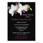 """Mothers Day Brunch Invitation - Orchids for Mother 5"""" X 7"""" Invitation Card"""