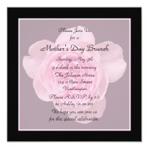 Mother's Day Brunch Invitation Pink Rose