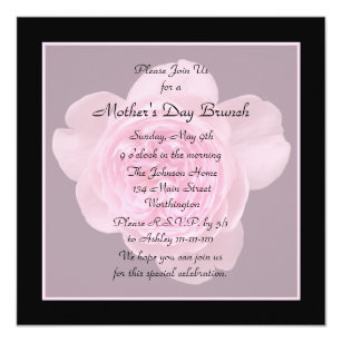 Mothers day invitations 1700 mothers day announcements invites mothers day brunch invitation pink rose stopboris Images