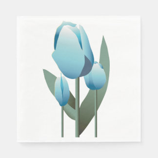 Mothers Day Brunch Spring Aqua Tulip Napkin