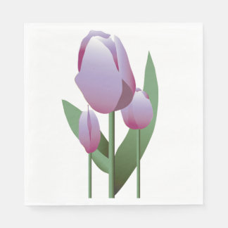 Mothers Day Brunch Spring Violet Tulip Napkin