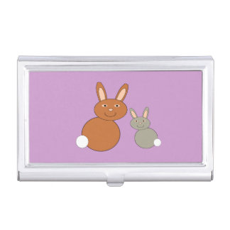 Mothers Day Bunnies Business Card Holder