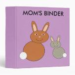 Mothers Day Bunnies Custom Binder
