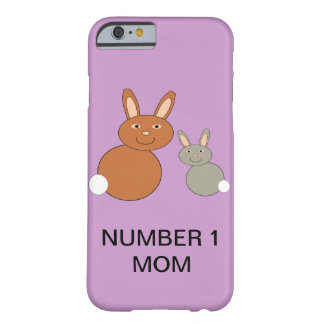 Mothers Day Bunnies Custom Number 1 Mom iPhone Cas Barely There iPhone 6 Case