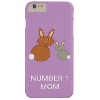 Mothers Day Bunnies Custom Number 1 Mom iPhone Barely There iPhone 6 Plus Case