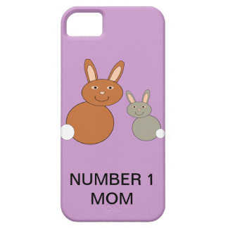 Mothers Day Bunnies Custom Number 1 Mom iPhone iPhone 5 Case