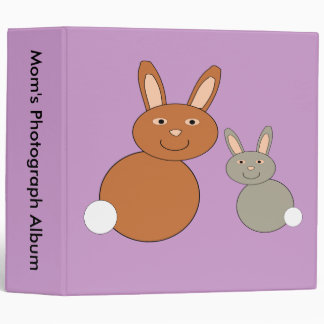 Mothers Day Bunnies Custom Photo Album 3 Ring Binder