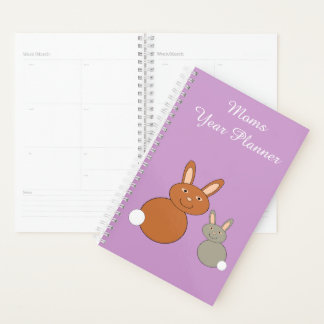 Mothers Day Bunnies Custom Planner