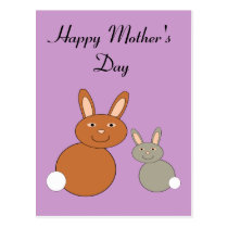 Mothers Day Bunnies Custom Postcard