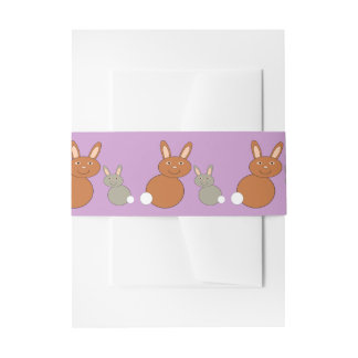 Mothers Day Bunnies Invitation Belly Band