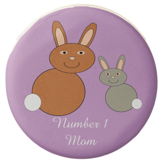 Mothers Day Bunnies Personalized Oreo Cookies