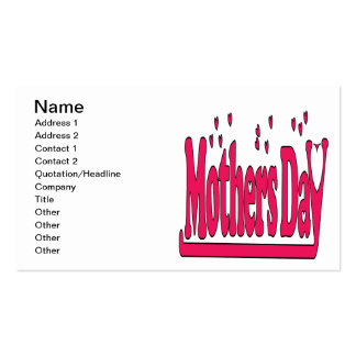 Mothers Day Double-Sided Standard Business Cards (Pack Of 100)