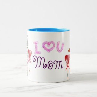Mother's Day Butterfly Crayon Photo Collage MOM Two-Tone Coffee Mug