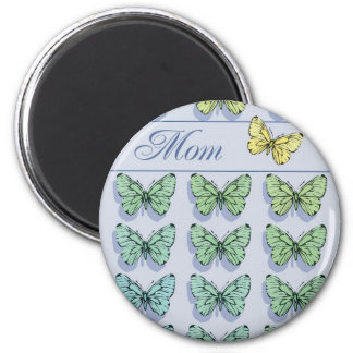 Mother's Day Butterfly Flying 2 Inch Round Magnet