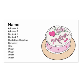 Mothers Day Cake Business Card
