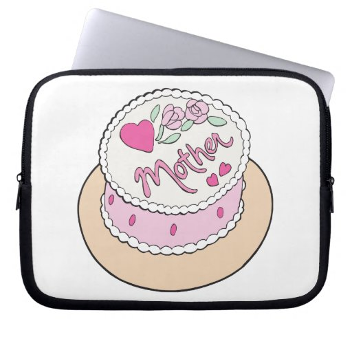 Mothers Day Cake Computer Sleeves