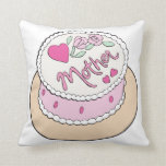 Mothers Day Cake Throw Pillow