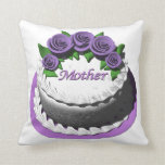 Mothers Day Cake Throw Pillows