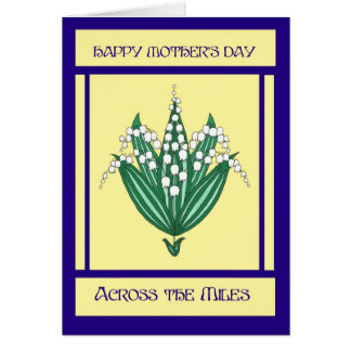 Mother's Day Card 'Across the Miles' - Lilies