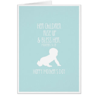 Mother's Day Card Bible Verse Baby Silhouette