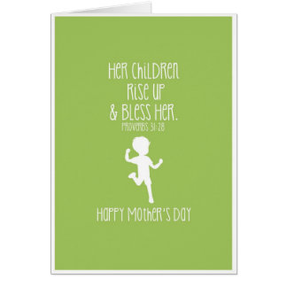 Mother's Day Card Bible Verse Boy Silhouette