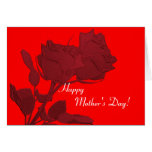 Mother's Day Card - Double Red Roses