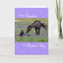 Mother's Day Card for Daughter Mare with Foal
