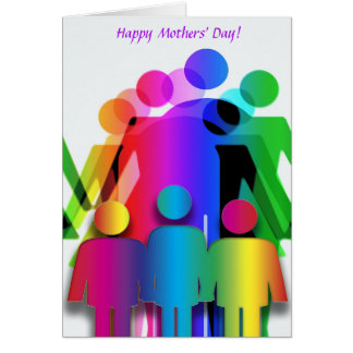 Mothers' Day Card for Families with Two Mothers