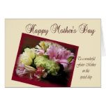 Mother's Day Card for foster mother - White Tulips