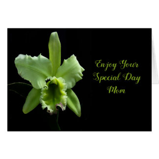 Mother's Day Card for Mom with Green Orchid