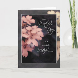 Mother's Day Card for Mother in Law, Garden Phlox
