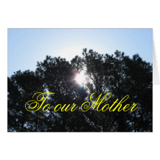 Mother's Day card - from all family