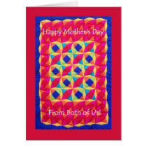 Mother's Day Card 'from Both of Us' -  Quilt