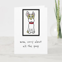 Mother's Day Card - From the Dog - Boston Terrier