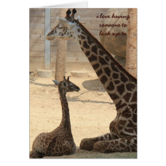 Mothers Day Card, Giraffe parent & child