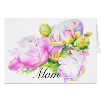 Mother's Day card - grand peony