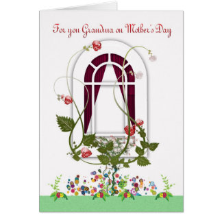 Mother's Day Card - Grandma Flowers