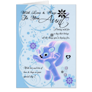 Mother's Day Card.. Little Cute Skunk Greeting Card