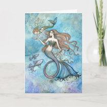 Mother's Day Card Mermaid and Child