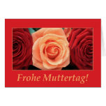 mother's day card mixed  rose bouquet german