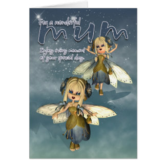 Mother's Day Card - Mum Cute Fairy