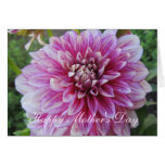 Mother's Day Card--Pink Dahlia Card