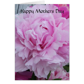 Mothers Day Card Pink Peonies / Peony Flowers