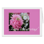 mother's day card pink rose german