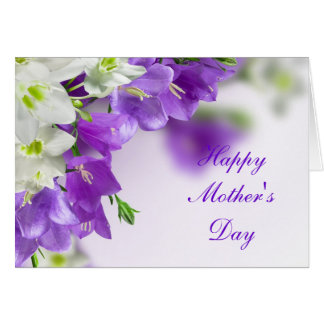 Mother's Day Card--Purple Flowers-Vertical Card