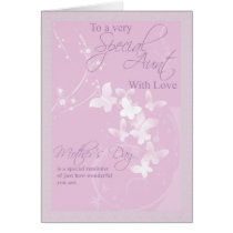 Mother's Day Card, Special Aunt Card