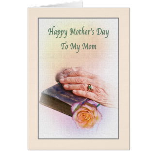 Mother's Day Card with Bible and Hands