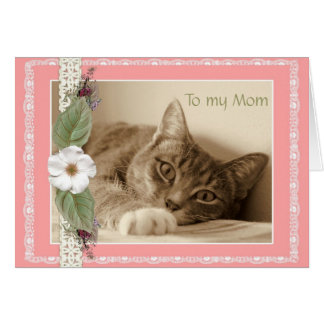 Mother's Day Card with Cat